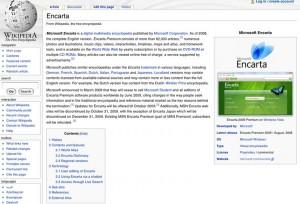 encarta sur wikipedia