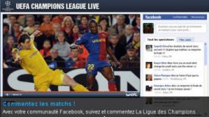 TF1 diffuse du foot et commente le match sur facebook