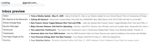Gmail Inbox Preview