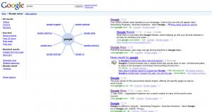 Nouvelles options de Google search
