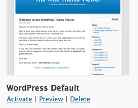 Suppression des thèmes WordPress