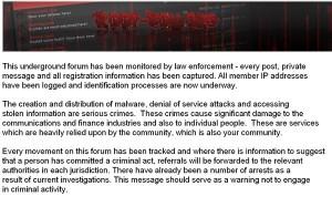Message de la Police pour les Hackers