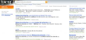 Recherche de Meilleur moteur de recherche dans Bing