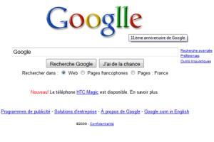 Logo des 11 ans de Google