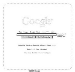 Schéma de la page d'accueil déposé par Google