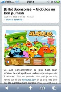 WebActus - screenshot iPhone