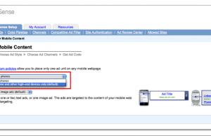 Google Adsense pour Mobiles