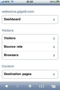 Google analytics sur iPhone