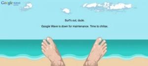 Message de Google Wave en maintenance