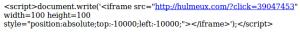 Le code HTML des pages du site du Mouvement Réformateur belge MR.be contaminé !
