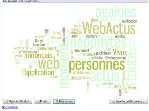 WebActus Nuage de tag 1
