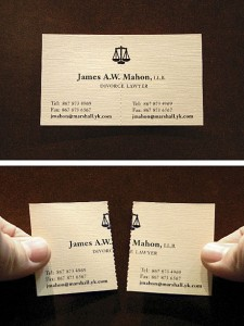 Carte de visite divorce