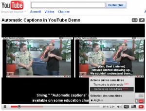 Sous-titrage sur Youtube