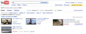 Vidéos sponsorisées dans Youtube