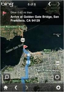 Bing pour iPhone - Géolocalisation
