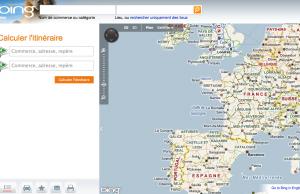 Accueil de Bing Maps