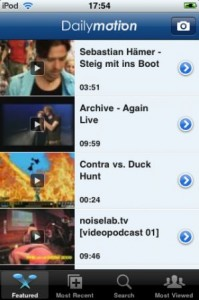 L'application iPod de Dailymotion