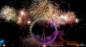 London Eye pour la nouvelle année