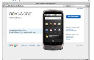 Nexus One Page accueil du store