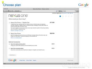 Nexus One - Boutique - Prix du téléphone