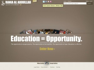 Site Drupal de la Reine Rania de Jordanie