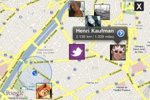 Localisation de vos amis sur Twitter 360 sur Google Maps