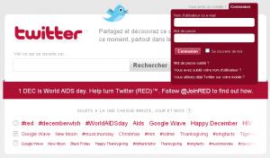 Twitter revêtu de rouge pour la journée de lutte contre le sida