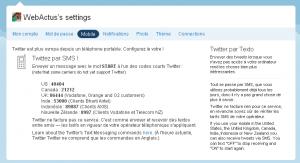 Twitter accessible par Texto