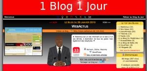 WebActus mis à l'honneur sur 1Blog1jour