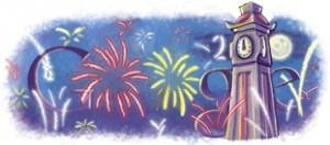 Google vous souhaite une bonne année 2010