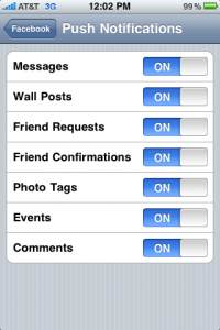 Notification push sur l'application iPhone