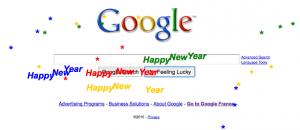 Google easter egg bonne année