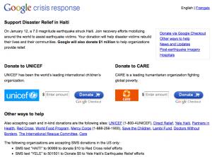 Google apporte un soutien à Haïti