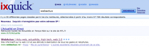 ixquick - Recherche webactus