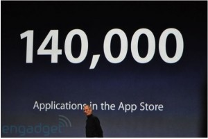 Keynote 140 000 applications sur l'App Store