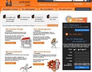 Site monadressechange.com