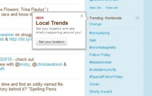 Twitter - Local Trends