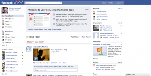 Nouvelle interface de Facebook