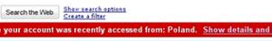 Message avertissement Gmail