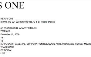 Demande de réservation de la marque Nexus One