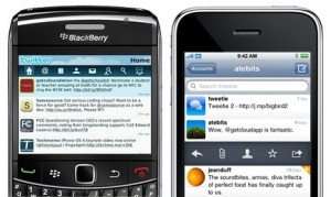 Twitter sur iPhone et BlackBerry