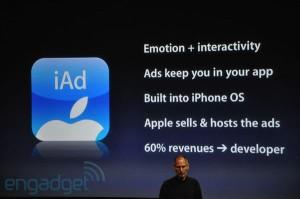 iPhone OS 4 - Régie publicitaire iAD