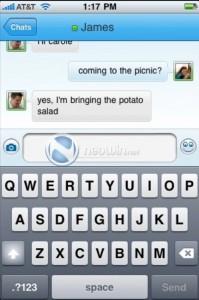 Windows Live Messenger iPhone: Conversation
