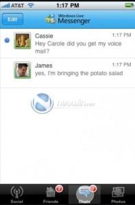 Windows Live Messenger iPhone: Conversations