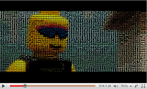Youtube et l'ASCII Art