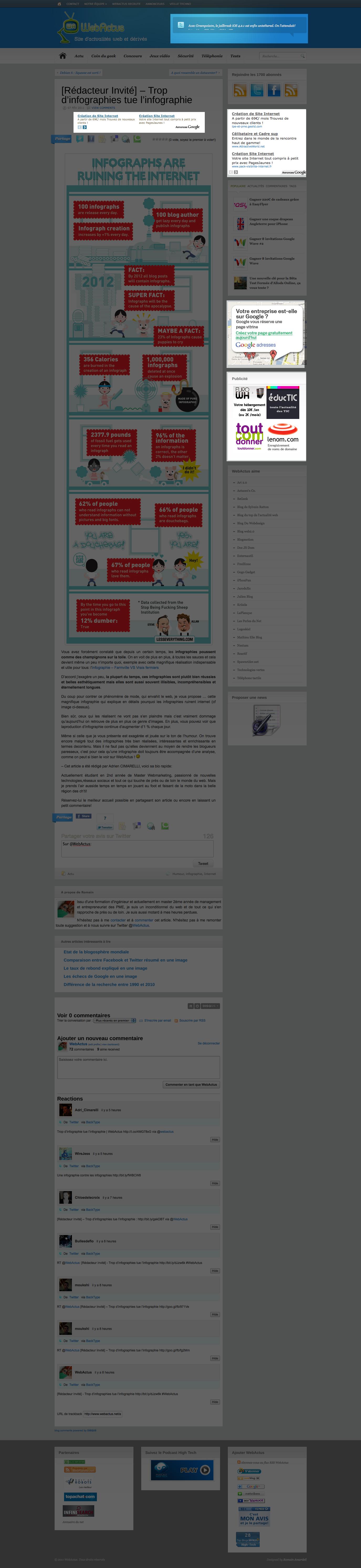 Page article WebActus