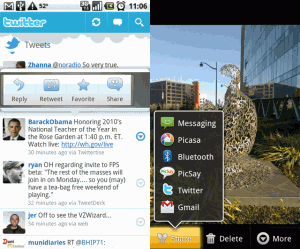 Screenshots application twitter android