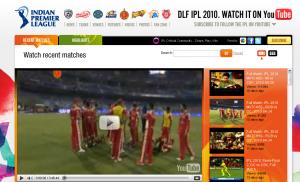 Chaîne youtube de la ligue de cricket indienne