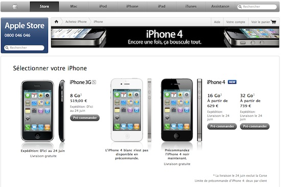 Pre-commande iPhone4