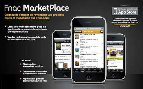 appli marketplace fnac
